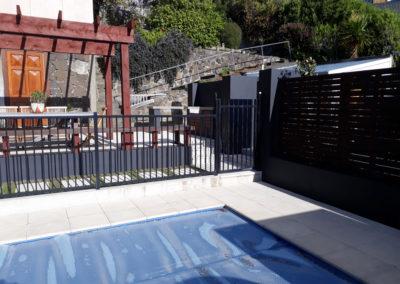 plastered pool area